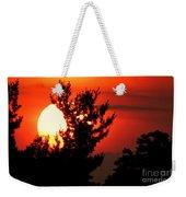 Crimson Sunset Weekender Tote Bag