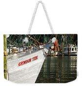 Crimson Tide Bow Weekender Tote Bag