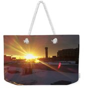 Crisp Chicago Morning Weekender Tote Bag