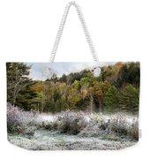 Crisp Morning Frost Hillside Landscape Weekender Tote Bag