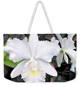 Crisp White Orchids In A Shady Garden Weekender Tote Bag