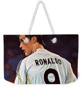 Cristiano Ronaldo Weekender Tote Bag by Paul Meijering