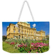 Croatian National Theatre Square In Zagreb Weekender Tote Bag