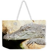 Crocodile Fractal Weekender Tote Bag