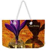Crocus Floral Birthday Card Weekender Tote Bag