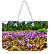 Crocus Flower Valley Weekender Tote Bag