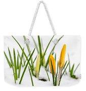Crocuses In Snow Weekender Tote Bag