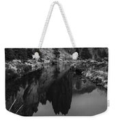 Crooked River Reflection Bw Weekender Tote Bag