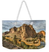 Crooked River Towers Weekender Tote Bag