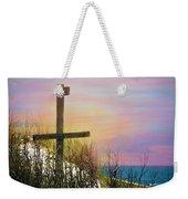 Cross At Sunset Beach Weekender Tote Bag