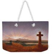 Cross At Sunset Weekender Tote Bag