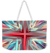 Cross Burst Weekender Tote Bag
