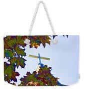 Cross Framed By Leaves Weekender Tote Bag