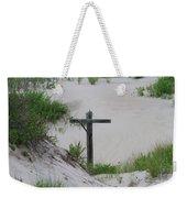 Cross In The Dunes Weekender Tote Bag