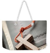 Cross On Bible Weekender Tote Bag
