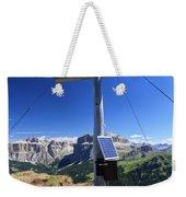 cross on Crepa Neigra peak Weekender Tote Bag