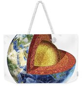 Cross Section Of Planet Earth Showing Weekender Tote Bag