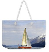 Cross Sound Sailboat Weekender Tote Bag