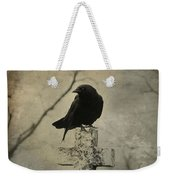 Crow On A Crooked Old Cross Weekender Tote Bag