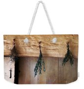 Crossbeam With Herbs Drying Weekender Tote Bag