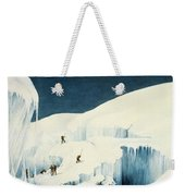 Crossing A Ravine, From A Narrative Weekender Tote Bag