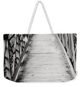 Crossing Over - Black And White Weekender Tote Bag