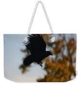 Crow In Flight 2 Weekender Tote Bag