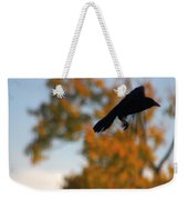 Crow In Flight 3 Weekender Tote Bag
