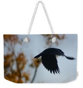 Crow In Flight 4 Weekender Tote Bag