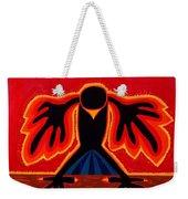 Crow Rising Original Painting Weekender Tote Bag by Sol Luckman