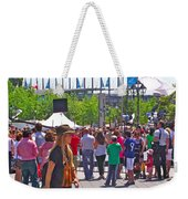 Crowd Watching Filming Of Today Show In Old Montreal-qc Weekender Tote Bag