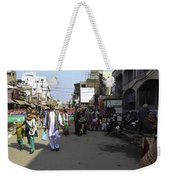 Crowded Street And Devotees In Front Of Golden Temple In Amritsar Weekender Tote Bag