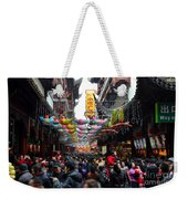 Crowds Throng Shanghai Chenghuang Miao Temple Over Lunar New Year China Weekender Tote Bag