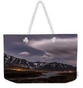 Crowley Lake At Night Weekender Tote Bag