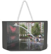 Crown Fountain Play Weekender Tote Bag