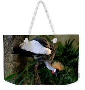 Crowned Crane Weekender Tote Bag