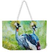 Crowned Cranes Weekender Tote Bag