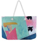 Crows And Geometric Figure Weekender Tote Bag