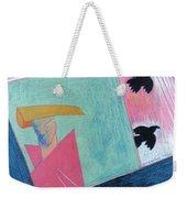 Crows And Geometric Figure Weekender Tote Bag