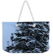 Crows Perch - Snowstorm - Snow - Tree Weekender Tote Bag