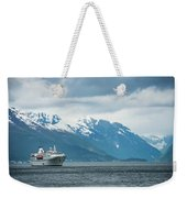 Cruise Ship In The Sognefjord In Norway Weekender Tote Bag