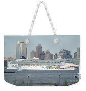 Cruise Ship On The Hudson Weekender Tote Bag