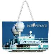 Cruise Ship Ventura's Radar Domes Weekender Tote Bag by Terri Waters
