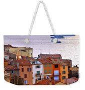 Cruise Ships At St.tropez Weekender Tote Bag
