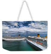 Cruise Ships Port Everglades Florida Weekender Tote Bag