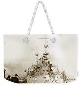 Cruiser Uss New York Going Into Dry Dock San Francisco Circa 1903 Weekender Tote Bag