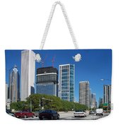 Cruising North On Lake Shore Drive In Chicago Weekender Tote Bag