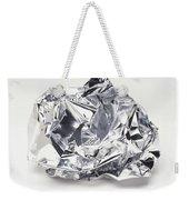 Crumpled Aluminum Foil Weekender Tote Bag
