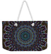 Crushed Blue Velvet Kaleidoscope Weekender Tote Bag