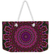 Crushed Pink Velvet Kaleidoscope Weekender Tote Bag
